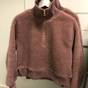 Varley dusty rose color Sherpa NWT